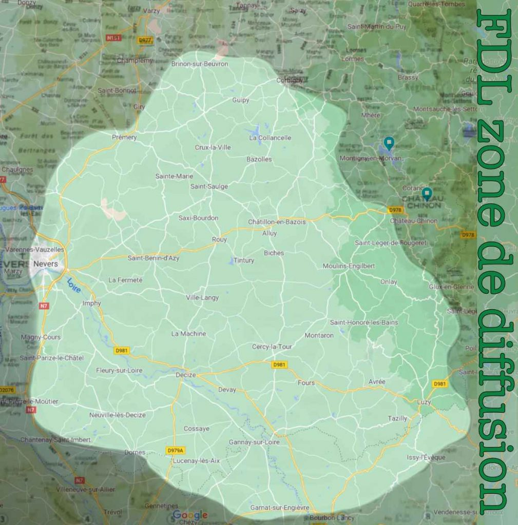 map le diffusion radio